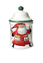 Old St. Nick Santa Large Canister 9-in. H. NEW!