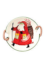 Old St. Nick Santa Deep Serving Bowl 18-in. x 4.5-in.