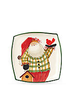 Old St. Nick Square Platter 12-in. x 12-in.