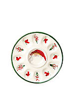 Old St. Nick Deviled Egg Tray 11-in. Dia.