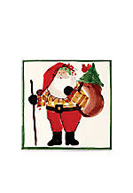 Old St. Nick Square Trivet with Sack 8-in. x 8-in.
