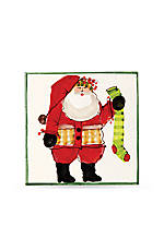 Old St. Nick Square Trivet with Stocking 8-in. x 8-in.