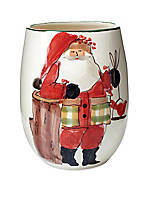 Old St. Nick Oval Vase 8-in. H. NEW!