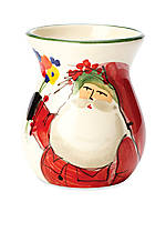 Old St. Nick Small Vase 3.75-in. x 4.5-in. NEW!