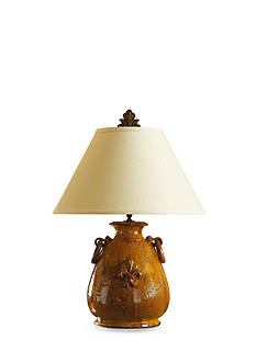VIETRI Rustic Collection Large Amber Lamp