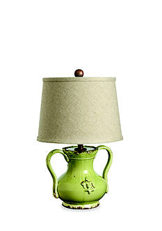 VIETRI Small Pistachio Handled Mini Lamp