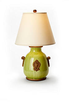 VIETRI Pistachio Lamp With Raw Handles