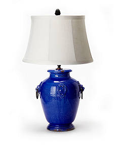 VIETRI Cobalt Lamp With Ring Handles