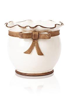 VIETRI Rustic Garden White Planter Bowl