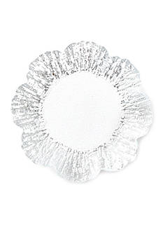 VIETRI Ruffle Glass Platinum Canape Plate