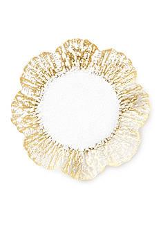 VIETRI Ruffle Glass Gold Canape Plate
