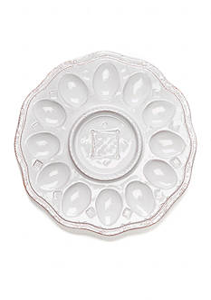 VIETRI Bellezza Spring White Egg Plate