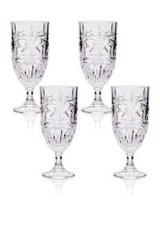 Godinger Palm Set of 4 Iced Beverage Glasses
