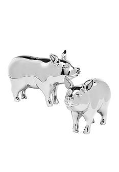 Godinger Pig Salt & Pepper Shakers