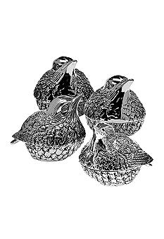Godinger Set of 4 Birds Salt & Pepper Shakers