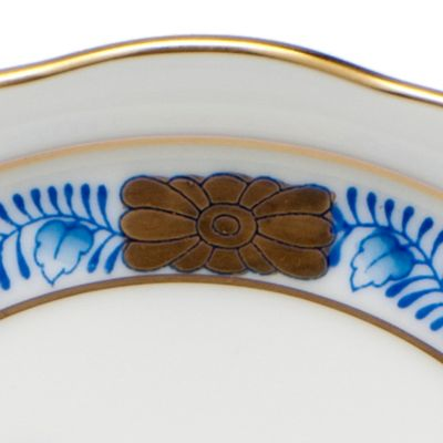 Designer Tabletop: Herend: Blue Herend 10-in x 8-in. Oval Vegetable Dish