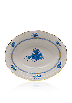 Herend 10-in x 8-in. Oval Vegetable Dish