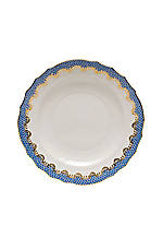 Fishscale Blue Salad Plate