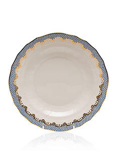 Herend Fish Scale Light Blue Dessert Plate