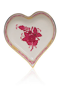 Herend Heart Tray - Raspberry