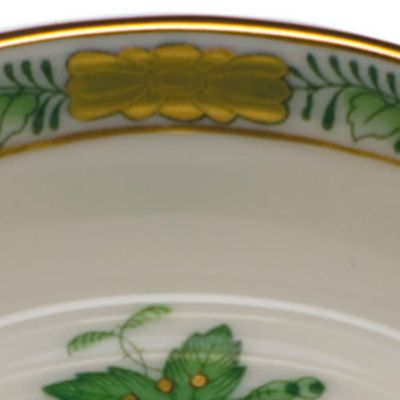Gold China: Green Herend 4.25-in. L X 3-in. W Mini Scalloped Tray