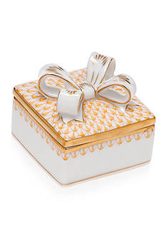 Herend Box with Bow - Butterscotch