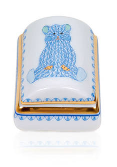 Herend Tooth Fairy Box - Blue