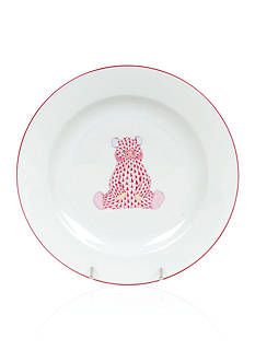 Herend Bear Baby Plate - Pink