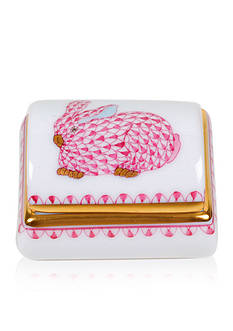 Herend Tooth Fairy Box - Pink