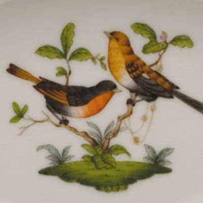 Designer Tabletop: Herend: Multi Herend Tureen with Bird