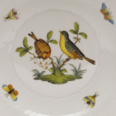 Designer Tabletop: Herend: White Herend Rothschild Bird 7.5-in. Round Bowl