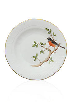 Herend Dessert Plate - Robin
