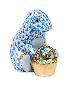 Herend Eggstravagant Rabbit - Blue