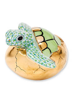 Herend Hatching Sea Turtle - Green
