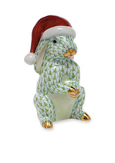 Herend Santa Bunny - Green