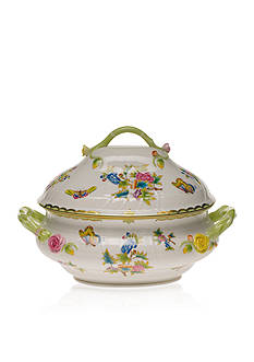 Herend (4 QT) 10-in. H Tureen W/branch