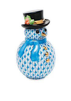 Herend Snowman - Blue