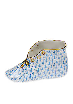 Herend Baby Shoe - Blue