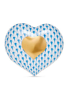 Herend Heart of Gold - Blue
