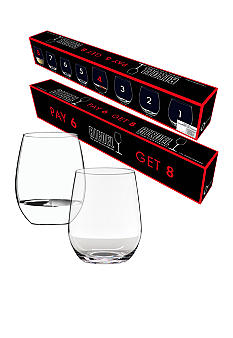 Riedel O Cabernet & Viognier's Value Pack Pay for 6/Get 8