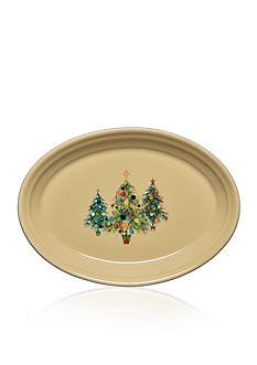Fiesta Trio of Trees Small Oval Christmas Platter