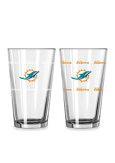 Boelter 16-oz. NFL Dolphins 2-Pack Color Change Pint Glass Set