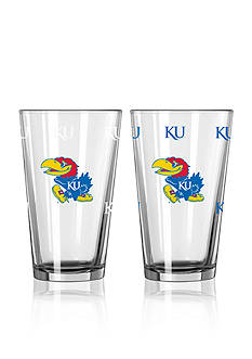 Boelter 16-oz. NCAA Kansas 2-pack Color Change Pint Glass Set