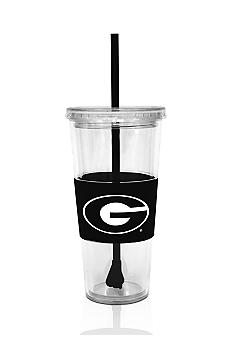Georgia Bulldogs Tumbler with Lid and Straw