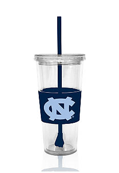 UNC Tar Heels Tumbler with Lid and Straw