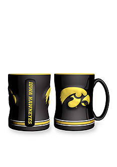 Boelter 14-oz. NCAA Iowa Hawkeyes 2-pack Relief Sculpted Coffee Mug Set
