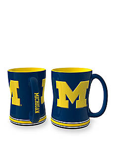 Boelter 14-oz. NCAA Michigan Wolverines 2-Pack Relief Sculpted Coffee Mug Set
