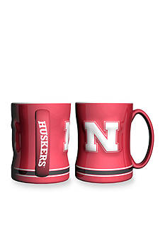 Boelter 14-oz. NCAA Nebraska Cornhuskers 2-pack Relief Sculpted Coffee Mug Set