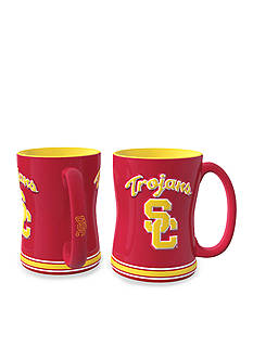Boelter 14oz NCAA USC Trojans 2-pack Relief Sculpted Coffee Mug Set