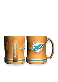 Boelter 14-oz. NFL Miami Dolphins 2-Pack Relief Sculpted Coffee Mug Set
